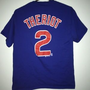 Theriot Chicago Cubs Majestic T-Shirt